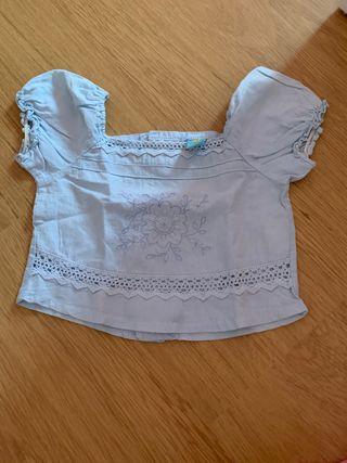 Camisa niña corta 4 años.