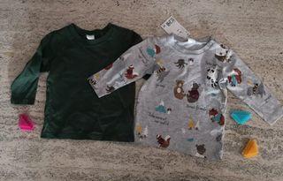 Lote 2 camisetas bebe 4-6m por estrenar