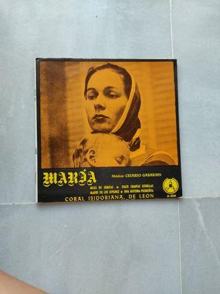 "Disco de vinilo ""María"""
