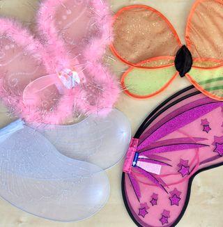 Pack de 4 alas de disfraz infantiles