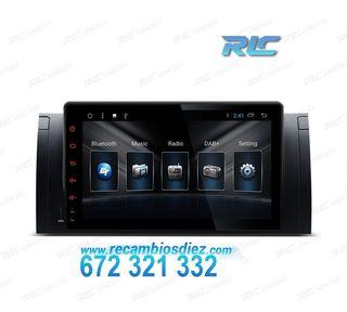 """RADIO GPS ANDROID 8.1 OREO 9"""" BMW X5 E53 USB GPS T"""