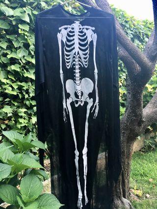 2 disfraces de esqueleto, adulto e infantil