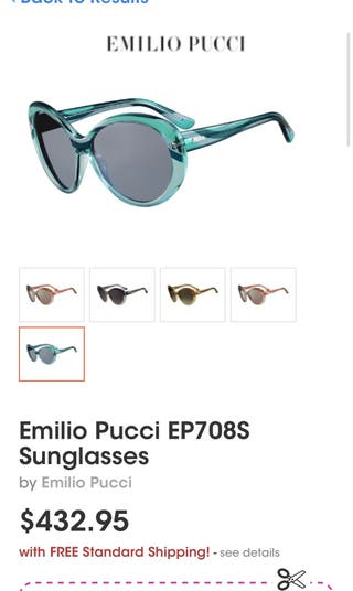 gafas Emilio Pucci PVP: 373€