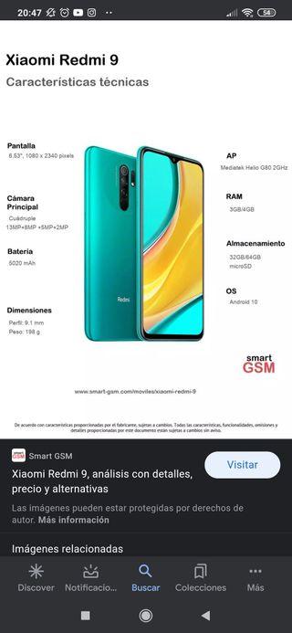 Xiaomi redmi 9 4gb 64gb de memoria