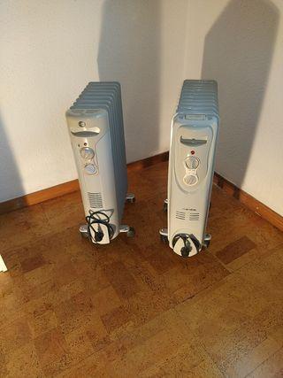 Dos radiadores de aceite