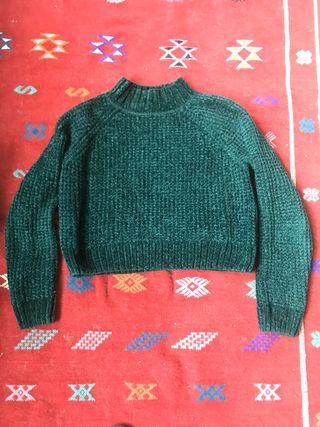 Velvet short sweater