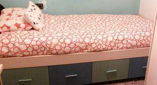 Cama dormitorio individual (+escritorio, armario)