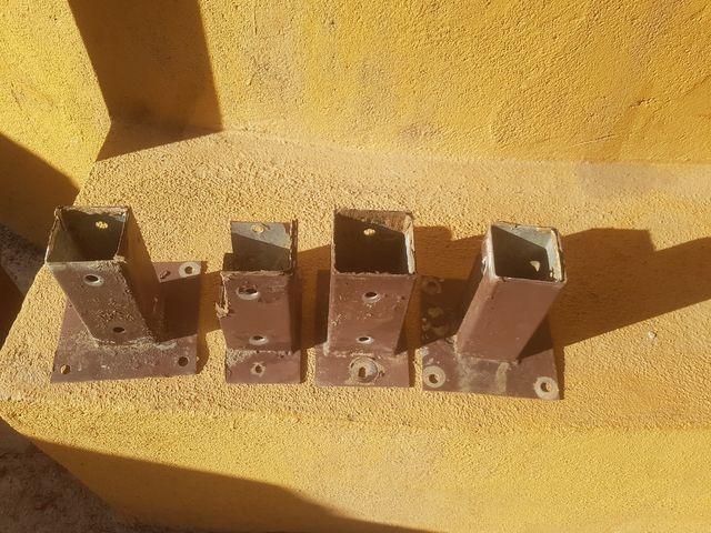 4 soportes para valla madera