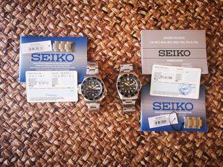 Pack 2 relojes Seiko automaticos