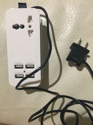Enchufe/cargador (EEUU) USB de 4 espacios