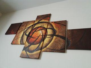 Cuadro Tríptico de 5 piezas