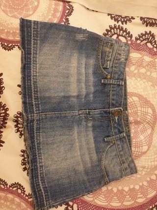 mini falda vaquera 36 Mango