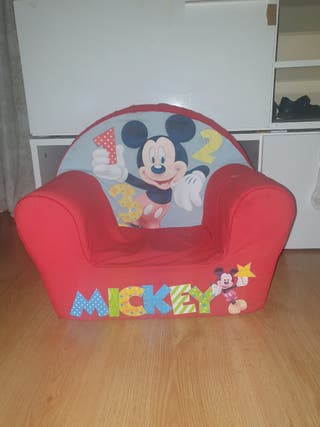 sillon niño mickey