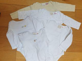 lote 5 bodies Zara 3 a 6 meses
