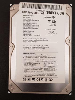 "Disco duro IDE 3,5"" Seagate Barracuda ST3200021A"