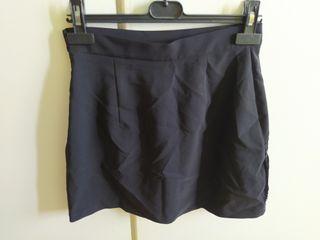 Falda negra flecos de Zara-Talla S-Como nueva