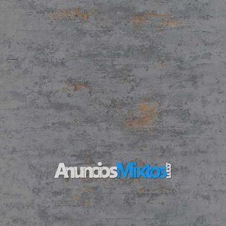 Papel pintado estilo hormigón gris y cobre