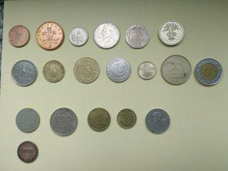 lote 19 monedas paises
