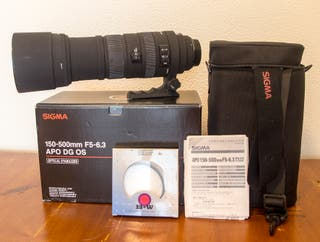 Sigma 150-500mm. F5-6,3 APO DG OS ( Canon ).