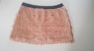 Minifalda/short flecos Zara