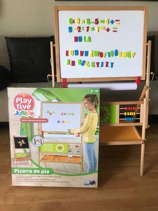 Pizarra aprendizaje de pie, tiza/papel y magnética