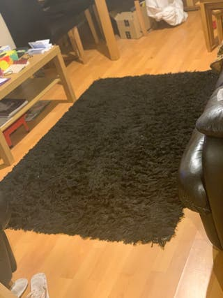 Black Shag Rug