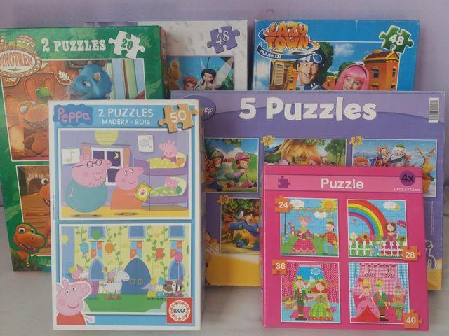 pack de 5 cajas de puzzles