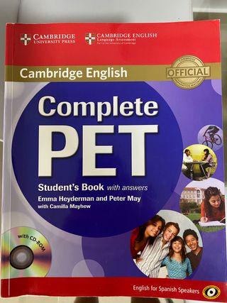 Libro Complete PET student book