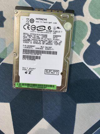 Disco duro hitachi modelo hts541616j9sa00