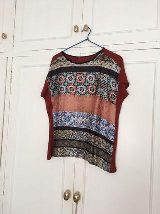 camiseta estampado de Zara woman colección Ts