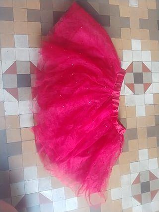 Falda niña Roja Con Brillitos.