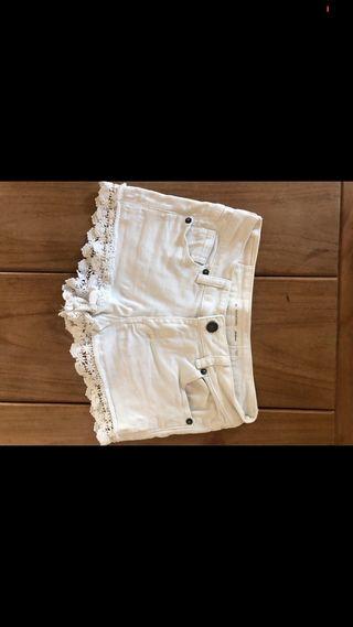 Pantalón corto blanco niña Subdued
