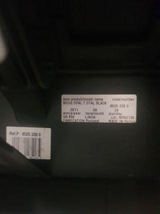 silla coche 0/1 bebeconfort siege opal total black