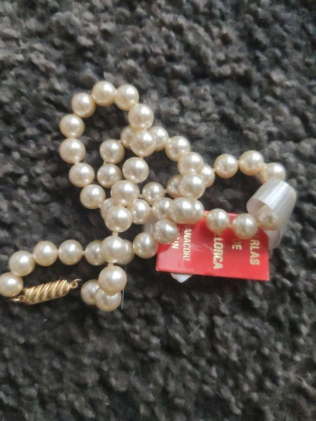 Perlas De mallorca Chapado en Oro de 24 kilates