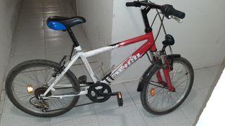 Bicicleta infantil. Ruedas de 20 pulgadas.