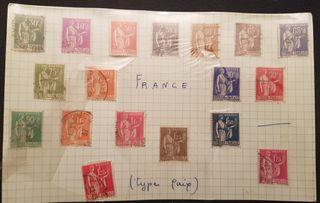 colección de sellos de Francia