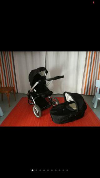 Duo carrito de bebe + sombrilla es muy cómoda