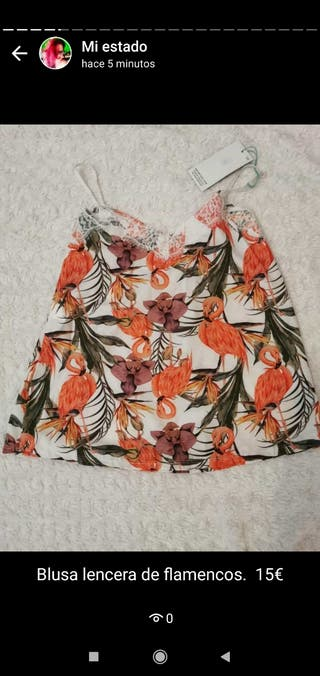 blusa de flamencos