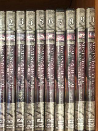 10 DVDs los tesoros perdidos de la humanidad