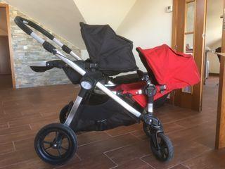 carrito doble gemelar baby jogger city select