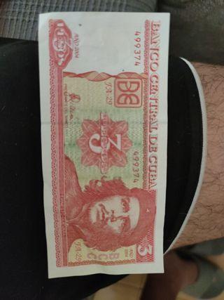 3 Pesos cubanos 2004 y 1995
