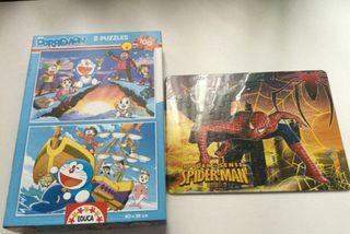 Puzzles de Doraemon Educa + Spiderman nuevo