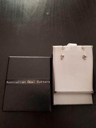 Pendientes perlas australianas