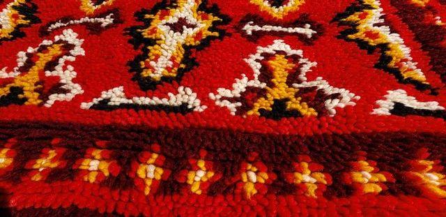 """Alfombra de lana artesanal """"shaggy """""""