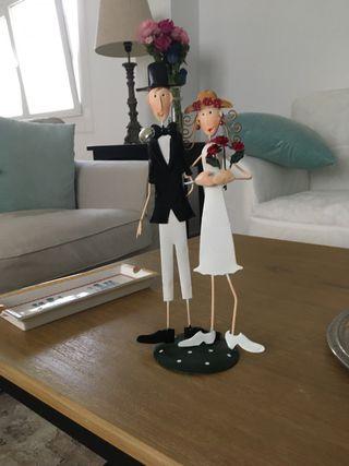 Figura decorativa novios boda