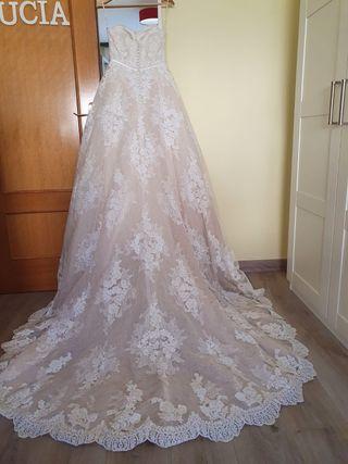 Vestido novia Pronovias con velo ,Cancán , zapatos