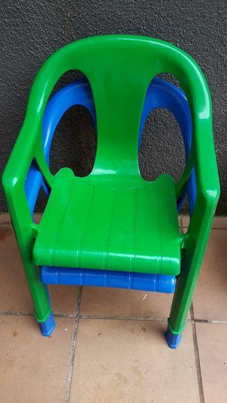 2 sillas niños