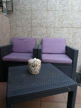 sillon y mesa exterior