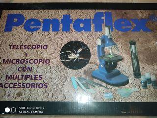 Telescopio Pentaflex + microscopio