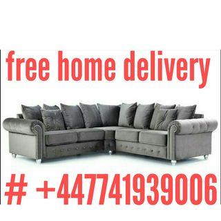 plush velvet 5 seater sofa